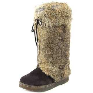 Bearpaw Elsa Women Round Toe Leather Brown Snow Boot
