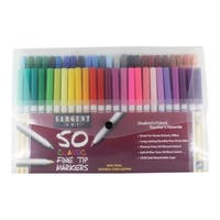 Sargent Art Marker Set Fine Tip, Assorted Colors, Set of 50
