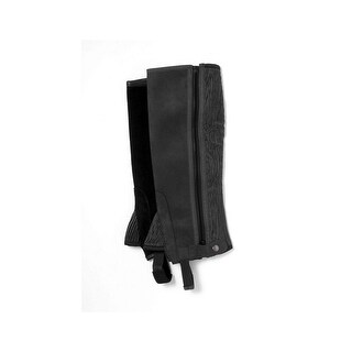 Tough-1 Half Chaps Adult Soft Synthetic Suede Elastic Back Panel
