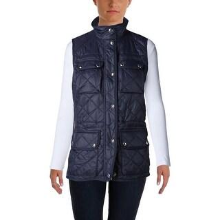 Lauren Ralph Lauren Womens Outerwear Vest Quilted Pockets
