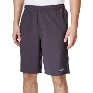 Greg Norman Mens Athletic Shorts Mesh Inset Signature