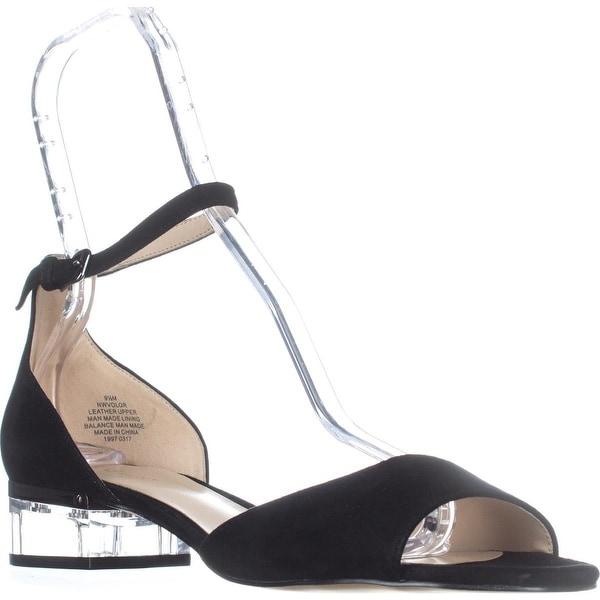 Nine West Volor Kitten Heel Sandals, Black