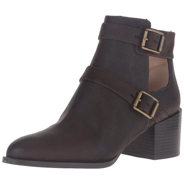 Nine West Women's Evalee Leather Ankle Bootie