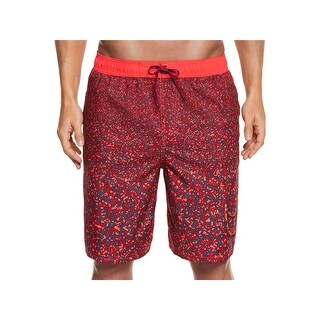 Nike Mens Splash Print Drawstring Swim Trunks