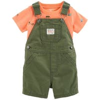 Carter's Baby Boys' 2-Piece Neon Tee & Shortalls Set