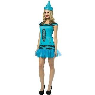Rasta Imposta Crayola Glitz and Glitter Steel Blue Dress Adult Costume - Solid - 4-10