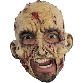 Horror Chinless Zombie Adult Costume Mask - standard - one size