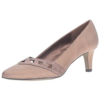 Easy Street Womens Valiant Pumps Satin Pointed Toe