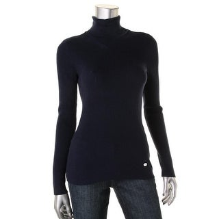 Polo Ralph Lauren Womens Ribbed Knit Mock Pullover Sweater - S