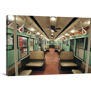 """""""R-4 City Car from 1932 exhibit at the New York City Transit Museum, Brooklyn"""" Canvas Wall Art"""