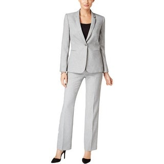 Tahari Womens Pant Suit 2PC One-Button