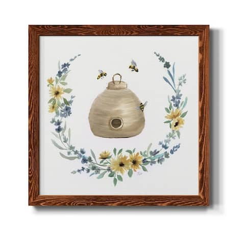 Bumble Bee Hive-Premium Framed Print - Ready to Hang