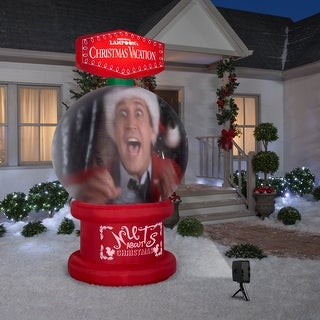 Link to Gemmy Living Projection Christmas Airblown Inflatable NLCV Snow Globe Scene WB , 8 ft Tall, red Similar Items in Christmas Decorations