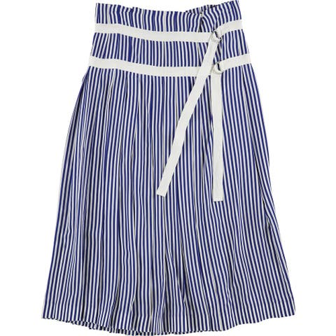 Joseph Womens Clyde Deck Chair Stripe Pleated Skirt