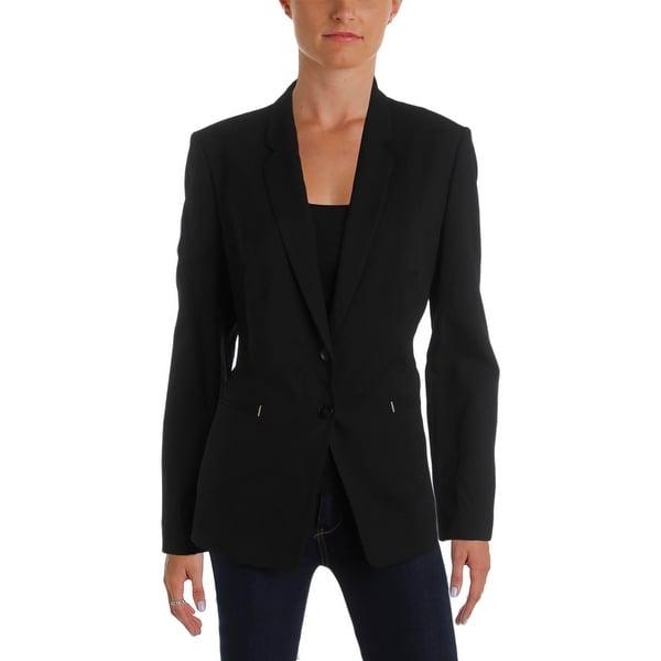 e9db2d8b0b Shop BOSS Hugo Boss Womens Jimondi Two-Button Blazer Wool Textured - Free  Shipping Today - Overstock - 21255594
