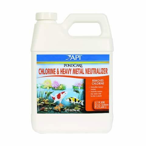 API 141G PondCare Chlorine & Heavy Metal Neutralizer, 32 Oz