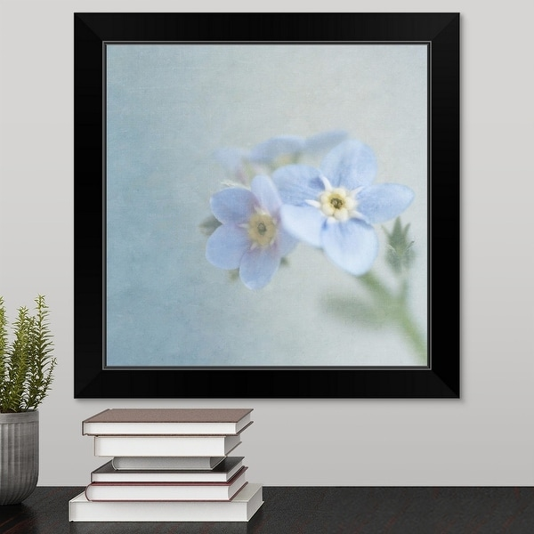 """Flowers Soft texture added in processing."" Black Framed Print"