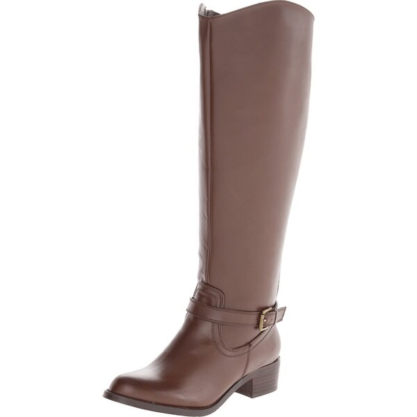 RSVP NEW Brown Shoes Size 7.5M Knee-High Buckle Leather Boots