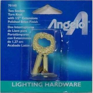 Westinghouse 70160 Brass Finish Socket Turn Keys