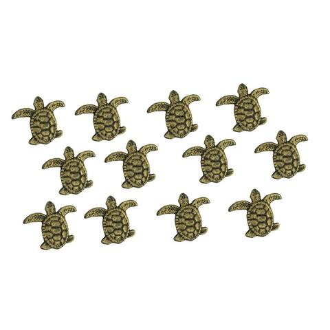 Cast Iron Sea Turtle Handle Drawer Pull Cabinet Knob Beach Decor Set of 12 - 2.5 X 3 X 1 inches