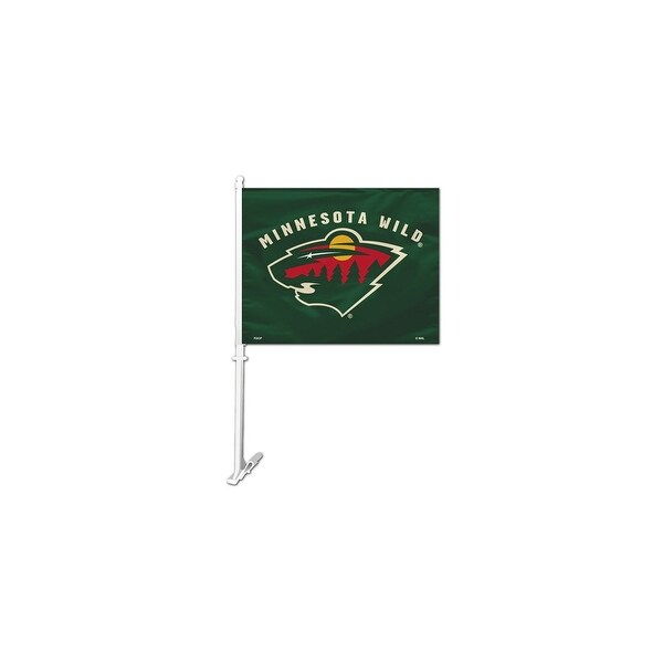 Fremont Die Inc Minnesota Wild Car Flag With Wall Brackett Car Flag