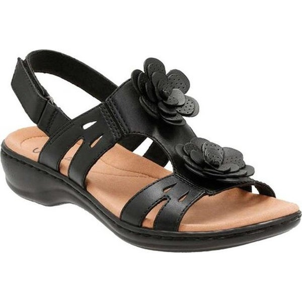 5fbced43a7a ... Women s Shoes     Women s Sandals. Clarks Women  x27 s Leisa Claytin  Strappy Sandal Black Leather
