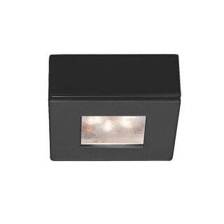 "WAC Lighting HR-LED87S 2.25"" Wide 3000K High Output LED Square Under Cabinet Puck Light (Option: Chrome Finish)"