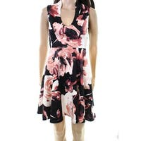 Soprano Women's Small Floral Pleated Sheath Dress