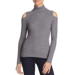 Theory Womens Jemliss Turtleneck Top Open Shoulder Wool