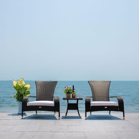 SAFAVIEH Outdoor Edna 3-Piece Lounge Set