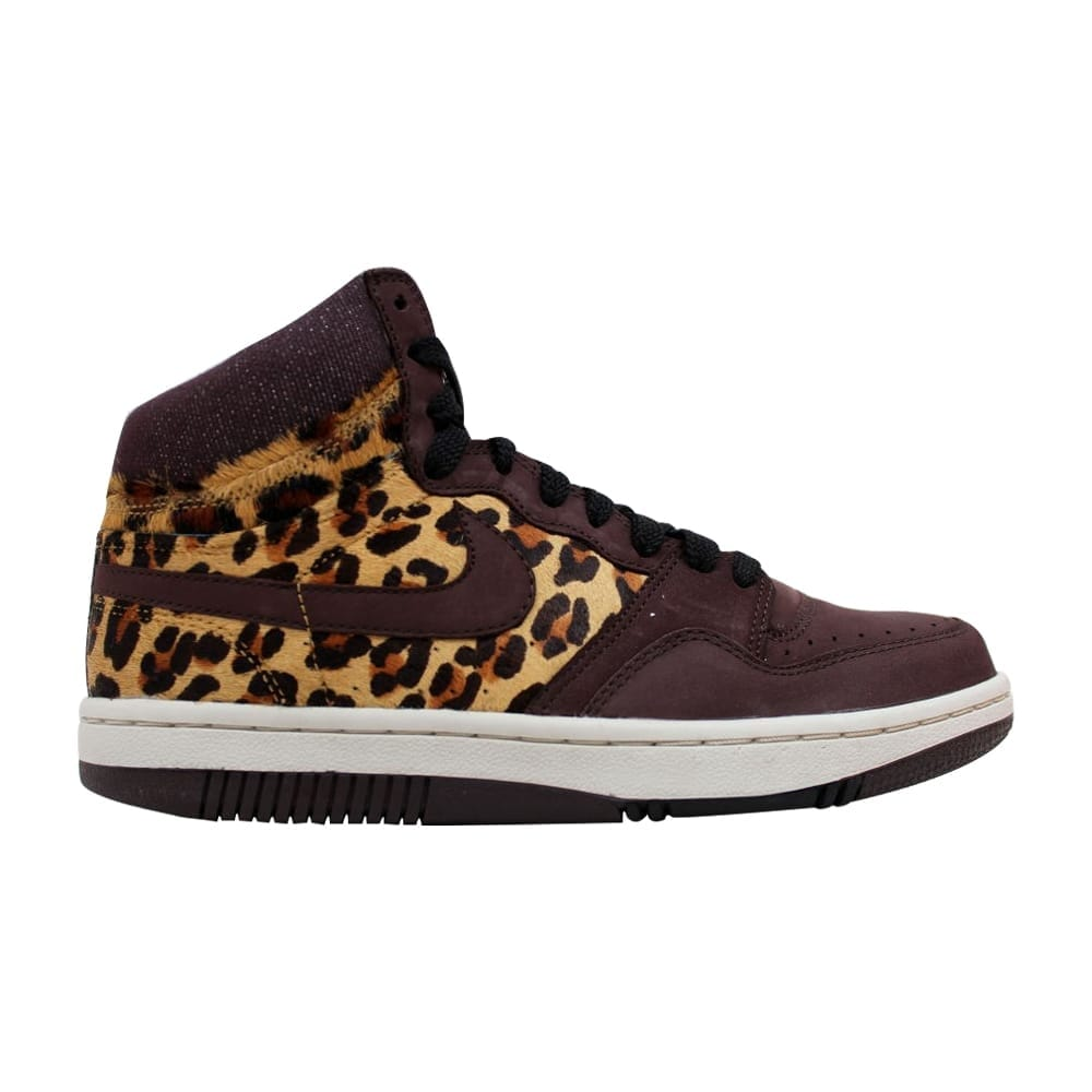 12644a7f506f Shop Nike Women's Court Force Hi Premium Madeira/Madeira-Black Cheetah  317072-221 - Free Shipping Today - Overstock - 20129364