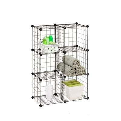 Honey Can Do Shf 02113 Modular Mesh Storage Cube, 6 Pack