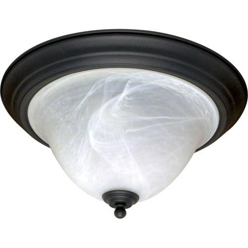 "Nuvo Lighting 60/383 Castillo 2 Light 15-1/4"" Wide Flush Mount Bowl Ceiling Fixture"