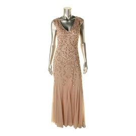Aidan Mattox Womens Sequined V-Neck Formal Dress - 12