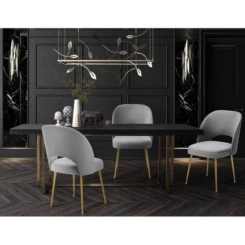 Swell Light Grey Velvet Chair