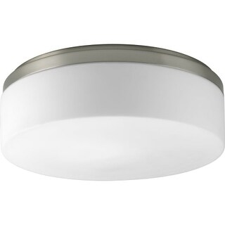 "Progress Lighting P3911 Maier 14"" Two-Light Ceiling Fixture with Etched White Opal Glass Shade"
