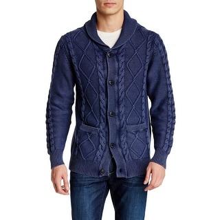 Weatherproof NEW Dark Denim Blue Mens Medium M Cardigan Sweater