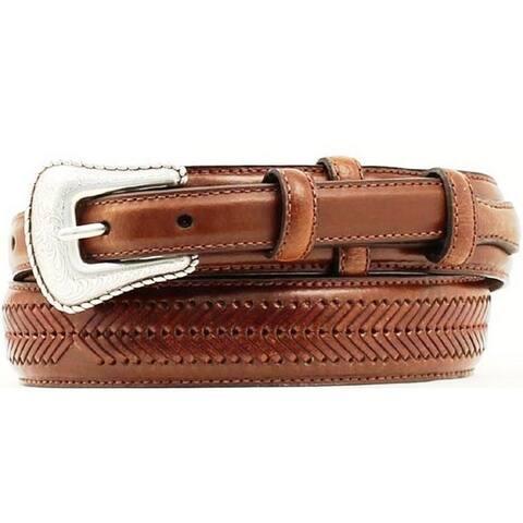 Nocona Western Belt Mens Leather Top Hand Ranger Cedar