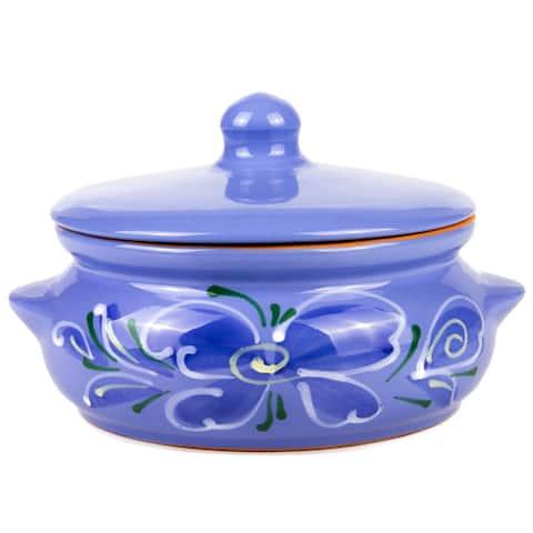 STP Goods 24 fl oz Blue Flower Stewing Stoneware Ramekin