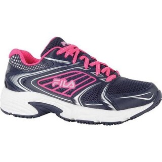 Fila Women's Memory Pacesetter Slip Resistant Jogger Sneaker Fila NavyPink GloWhite | Shopping The Best Deals on Sneakers