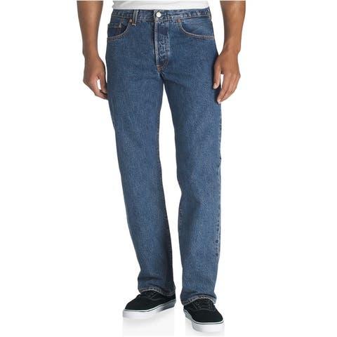 Levi's Mens Classic 501 Denim Straight Leg Jeans, Blue, 40W x 34L