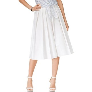 MICHAEL Michael Kors Womens A-Line Skirt Pleated Mid-Calf