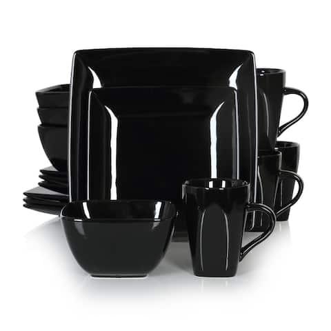 vancasso SOHO 16-Piece Glossy Dinnerware Set, Service for 4