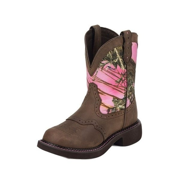 Justin Western Boots Womens Leather Gypsy Gemma Pink Camo L9610