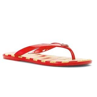 MICHAEL Michael Kors Women's Jet Set MK Jelly Grenadine PVC/Stripe Sandals