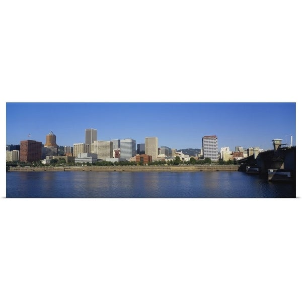 """""""Buildings on the waterfront, Portland, Oregon"""" Poster Print"""