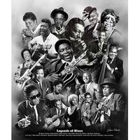 ''Legends of Blues'' by Wishum Gregory Music Art Print (24 x 20 in.)
