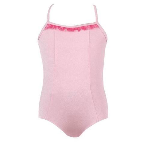 Veva by Very Vary Little Girls Baby Pink Mei Dance Leotard