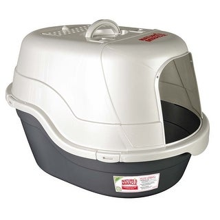 Nature's Miracle Black Pan Oval Hooded Litter Box