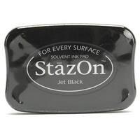 Tsukineko StazOn Acid Free Jet Black Color Solvent Ink Pad For Rubber Stamps